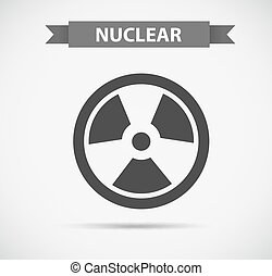 Nuclear icon in grayscale
