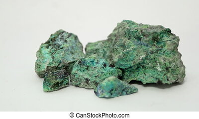 Copper Oxide Ore Sample Rotating - A sample of the copper...