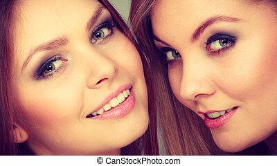 Charming positive female siblings. - Sisterhood and siblings...