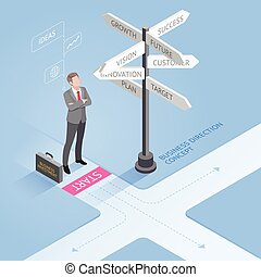 Business people concepts. Businessman standing at a...