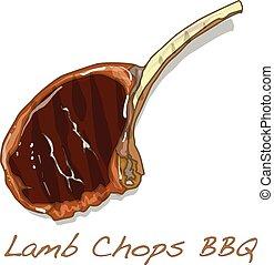 Steak BBQ vector