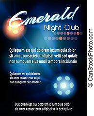 Night club poster with lights - Night club poster template...