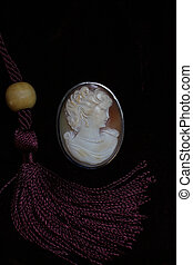 cameo female jewelry - female face profile medallion in a...
