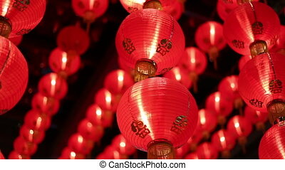 Rotating LED Chinese characters wishing prosperity - A video...