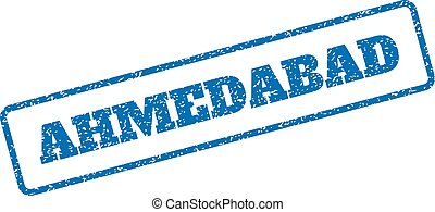 Ahmedabad Rubber Stamp - Blue rubber seal stamp with...