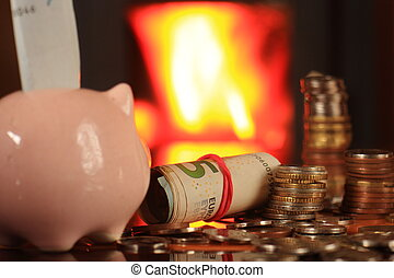 Economical heating in the fireplace