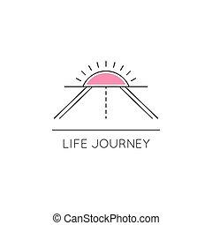 Life journey line icon