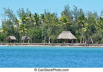 Nanuya Levu island in the Yasawa Group Fiji