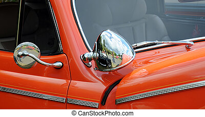 Classic vintage automobile - Closeup view of a classic...