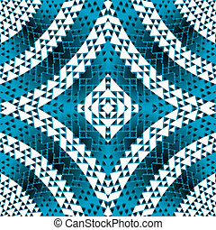 Blue geometrical shapes background