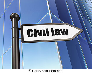 Law concept: sign Civil Law on Building background