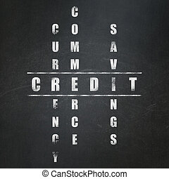 Banking concept: Credit in Crossword Puzzle