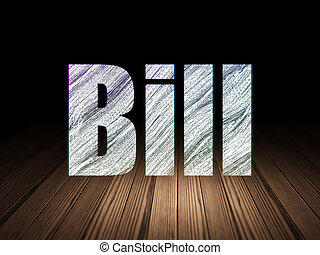 Banking concept: Bill in grunge dark room