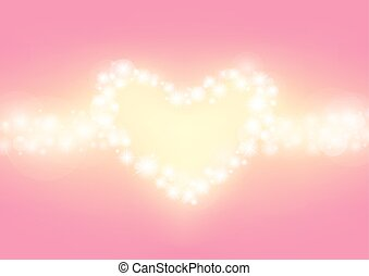heart abstrack sparkling frame pink background