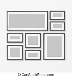 Blank Picture or Foto Frame for Interior. Vector - Blank...