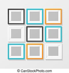 Blank Color Picture or Foto Frame for Interior. Vector -...