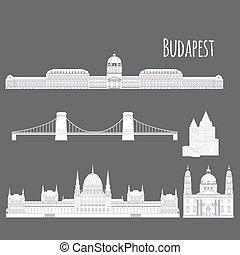 Hungarian City sights in Budapest. Hungary Landmark Travel...