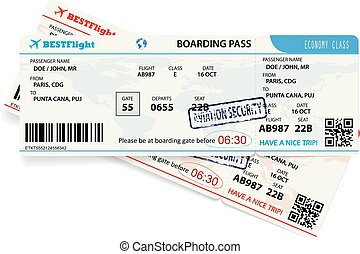 template of boarding pass tickets