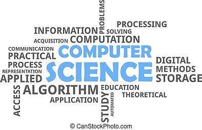 word cloud - computer science - A word cloud of computer...