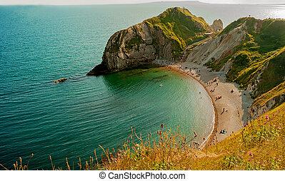 Man Of War Durdle Door - Durdle Door,a very popular beach of...