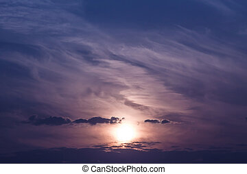 Beautiful sunset sky stratosphere background