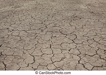Crack earth and global warming effect background