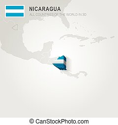 Nicaragua drawn on gray map.