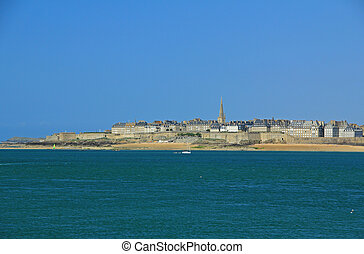 Saint-Malo, Bretagne, Frankreich - View on Saint-Malo from...