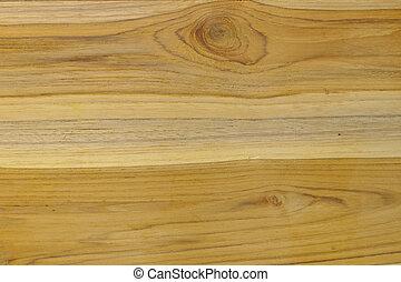 Grains on teak wood