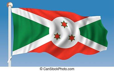 Flag of Burundi - vector illustration