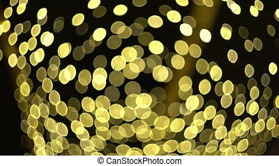 ambient abstract bokeh particles background - golden yellow...
