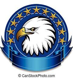 Eagle Banner Blue - American Eagle Banner