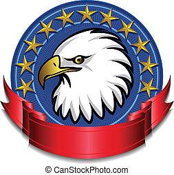 Eagle Banner Red - American Eagle Banner
