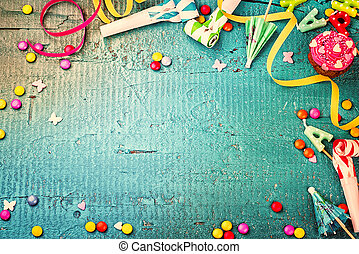 概念, 鮮艷, 框架, 項目,  Multicolor, 生日, 黨, 愉快