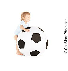baby boy with soccer ball - picture of baby boy with soccer...