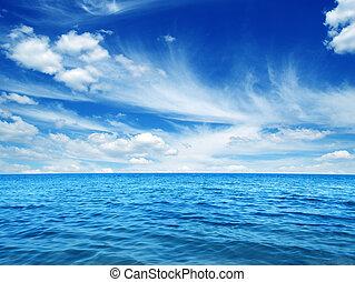 藍色, 水, 海