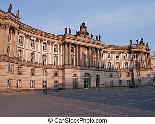 Old library Berlin University - Front view of the Humboldt...