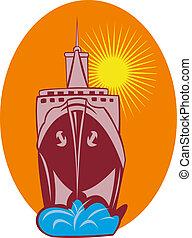 Ocean liner boat ship