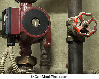 Water pump and a valve
