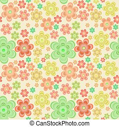 llustration seamlessbackground with bright flowers -...