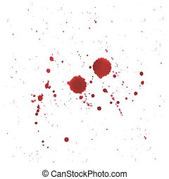 Abstract Blood splatter on white background.