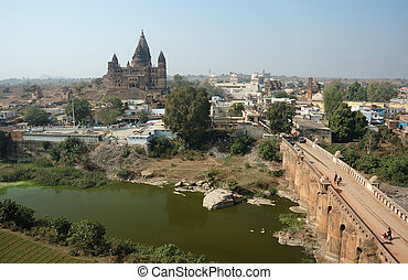 View of ancient Orchha town,India - View of ancient Orchha...