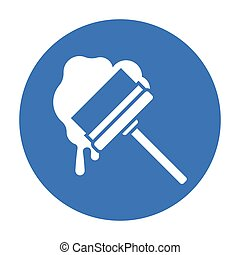 Squeegee black icon. Illustration for web and mobile design....