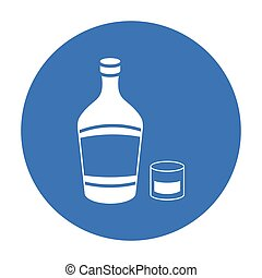 Liqueur icon in black style isolated on white background. Alcohol symbol stock vector illustration.