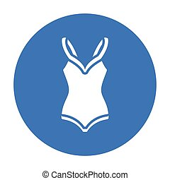 Swimsuit icon of vector illustration for web and mobile...