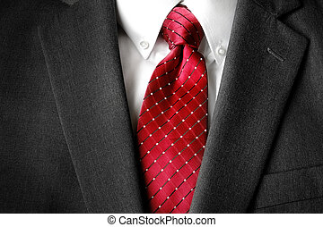 Business Suit White Shirt Red Tie Formal Wear Fashion -...