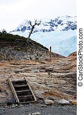 Glacier Perito Moreno - View to the glacier with nearby...