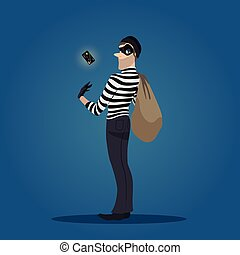 Robber with a stolen credit card and bag of stolen goods....