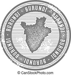 Burundi Vintage Country Stamp for Tourism - Vintage style...
