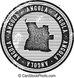 Angola Vintage Country Stamp for Tourism - Vintage style...